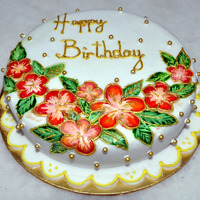 Hand-Painted Onto Fondant Cake  Hi all, I was unable to log in for some time, became so so frustrated, sent several mails to CC, ask for help, and today...YAYYYY!! I'...