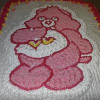 Pink Carebear 1St Bday I got an order for this cake last week. Didn't take very long to do...