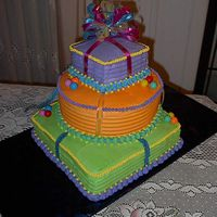Sesame Street This was the first stacked cake I did! You know I don't like to take things 1 step at a time, I just jump in head first and start with...