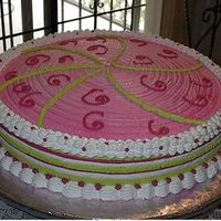 Strawberry Shortcake Theme Cake The mom had a strawberry shortcake doll to go on top...did this sometime last year...
