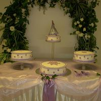 Quincenera 1st Quincenera Cake...not too bad....each cake was a different flavor, Vanilla with Strawberry, Pineapple with Pineapple and Chocolate with...
