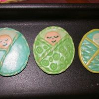 Babies In Blankets baby shower cookies, mmf covered