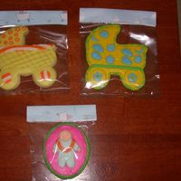 Baby Shower Cookies sugar cookies covered in mmf