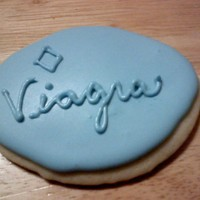 Viagra Cookie I made these for my brother's 40th birthday. I used a football cutter. They were a big hit!