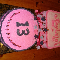 Pink & Black Cakes For Kayleigh For Kayleigh's 13th B-day.