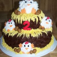 Chicken Coop Birthday Cake
