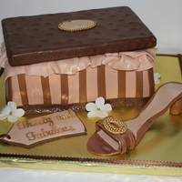 Shoebox Cake For My Best Friends 30Th!! I made this shoebox/shoe cake for my best friends 30th birthday. She loved it!! My first attempt at a gumpaste high heel. It actually...