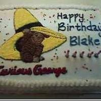 Curious George Birthday cake for a five year old... Curious George... my second cake ever...
