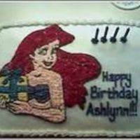 Ariel, The Little Mermaid This is my first ever decorated cake.... I did this in 2006 for my daughter's fourth birthday.