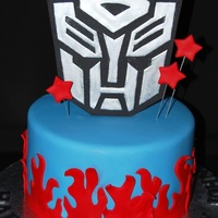 Transformers Very simple, all fondant.