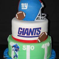 "Ny Giants NY Giants cake, 6"", 8"" and 10""."