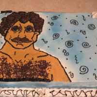 Tom Selleck Hairy Chest Cake This is my version of the Tom Selleck Hairy Chest Cake, lol. Done for a friends 40th Birthday. Must say flesh colored frosting is just...