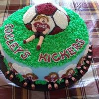 Kickers made this for my daughter's team for their end of season partycovered and decorated in bc