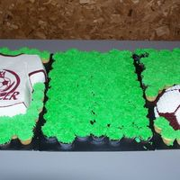 Soccer T I made this for my kids soccer organization. Tshirt is covered in bc with a fbct logo, ball is also covered in bc. Mini cupcakes are also...