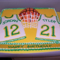 Basketball Players Birthday This one I did for my two cousins . Had to come up with a way to make one cake for a teen boy and teen girl to share. So I decided to go...