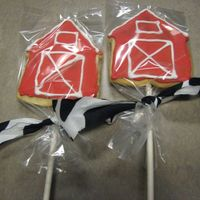 Barn Cookies This is my first time making cookie cutter cookies. They went perfect with the barn cake that I made. I had a lot of fun. I can't wait...