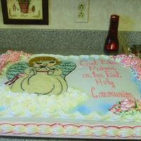 Scan0026.jpg   Communion cake for my brother's friend. They wanted an angel on it.