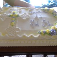 Baptism Cake A different style of cross, for an adult baptism.