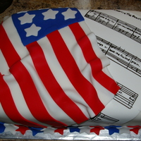 Flag And Sheet Music A soldier coming home and his wife have birthdays a couple days apart, she is a singer. The were having a welcome home/birthday party for...