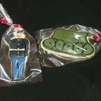 Marine Cookies NFSC with royal icing. Made for a marine core graduate.