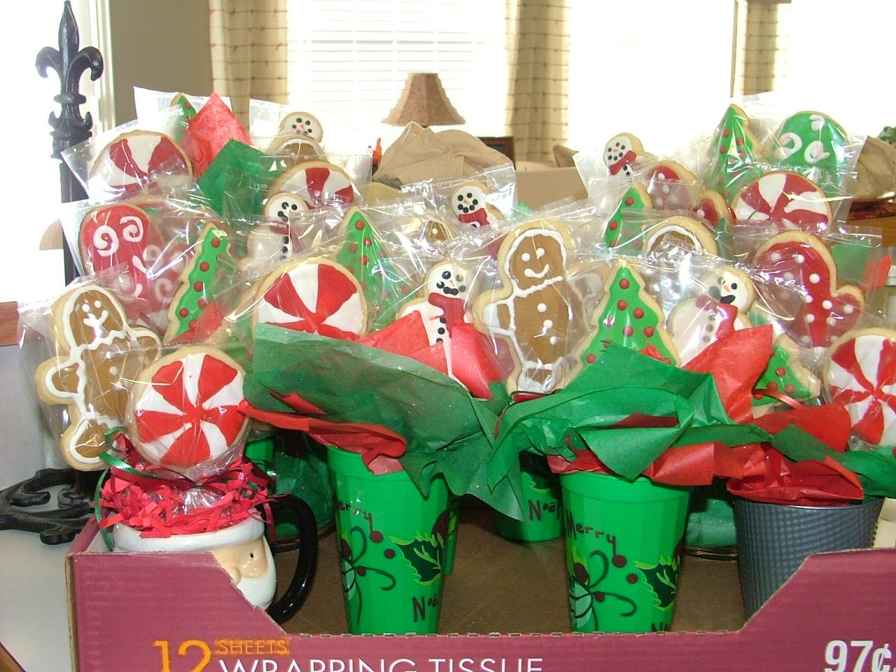 Christmas Cookie Bouquets Bouquets made for my sister's friends.