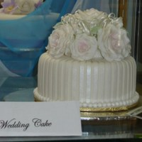 Top Tier Of Wedding Cake I won first with this entry in the top tier of wedding cake today at out local show.