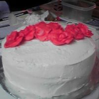 Rose Cake SOFT buttercream that never crusted..