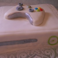 Xbox 360 The cake is is covered in mmf and the controller is made with mmf also. Cake was made for my video game fanatic 5 year old.