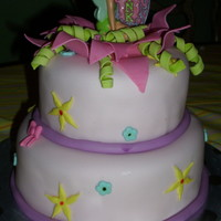 Tinkerbell Cakes are covered in mmf . I love girly style cakes