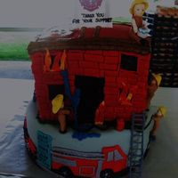 Firemen Cake The small town I live near was celebrating 100 years of the fire department so they had a little birthday cake competition. I was so happy...