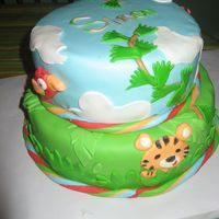 Rainforest This cake is covered in mmf.