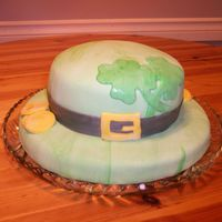 St Patrick's Day Cake I made this cake for a work luncheon. Covered in MMF