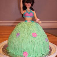 Hula Dancer I made this cake for my daughter's Hawaiian theme birthday party