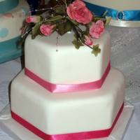 Wedding Cake Small 2 tier cake I did for a wedding fayre with sugar roses