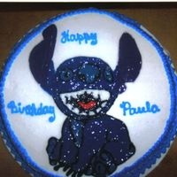 Stitch- Gel white cake with a gel of stitch from lilo and stitch