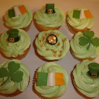 St. Patrick's Day Cupcakes St. Patrick's Day Cupcakes with hand-made modelling paste toppers