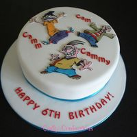 Ed, Edd And Eddy Cake I'd never heard of these characters, but doesn't mean I can't put them on a cake! The names on the cake are a play on the...