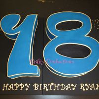 "No.18 Cake This cake was massive! It's on two boards to make it easier for the customer to transport, but the combined size was 31""x20&quot..."