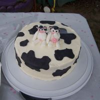 Getting Moooooorried Cow shower cake