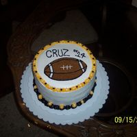 Football This is a cake a lady wanted for her son. He plays pee wee football.