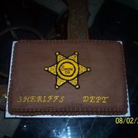 Sheriff's Cake This was ordered by the county sheriff's department on election night.