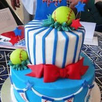 End Of The Season Softball Cake Made this cake inspired by Tamivo cake....WASC cake with buttercream and fondant decorations
