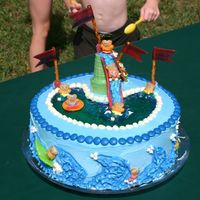 The Bears Pool Party This was my sons fourth birthday party cake. It was just adorable and not that hard to make!