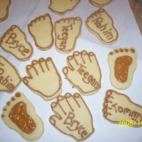 "Just For Fun  I had left over dough and royal frosting so me and the kids made these for fun. They LOVED getting to eat their ""hands and feet""..."