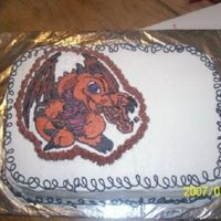 Twins 8Th Bday Cake this is a FBCT of some yu gi oh Baby Dragon thing. LOL chocolate cake with white chocolate pudding filling.