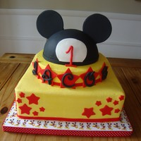Mickey Cake this was inspired by several cakes here but one in particular which I can not find. So thank you to whoever it was! buttercream with...