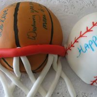 Play Ball My husband's birthday cake.