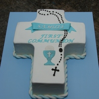 First Communion Cross Cake Thanks to the others who have done this cake in the past. Really great.