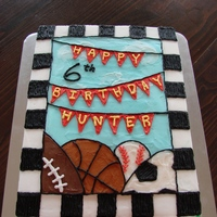 Sports Birthday Cake Thanks to the others who have done this in the past, great design.