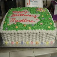 Garden   garden cake with basket weave on side